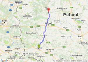Legnica (dolnośląskie) - Chodzież (wielkopolskie)