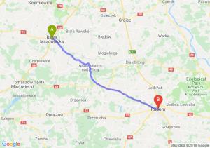 Trasa Rawa Mazowiecka - Radom