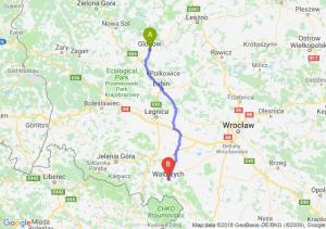 Trasa Głogów - Wałbrzych