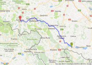 Paczków (opolskie) - Kamienna Góra (dolnośląskie)