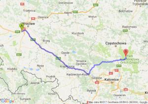 Trasa Biskupice Podgórne - Żarki