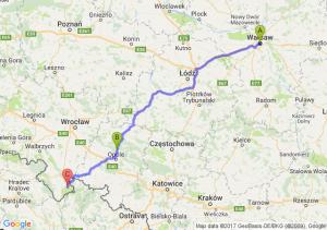 Warszawa (mazowieckie) - Opole (opolskie) - Stronie Śląskie (dolnośląskie)