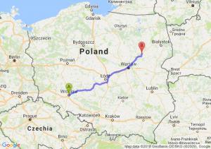 Trasa Wrocław - Ostrów Mazowiecka