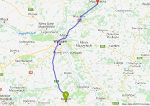 Trasa Radom - Ostrów Mazowiecka