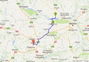Czerwińsk Nad Wisłą (mazowieckie) - Sochaczew (mazowieckie) - Łódź (łódzkie)