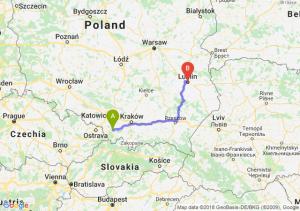 Trasa Bielsko-Biała - Lublin