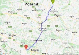 Trasa Ciechanów - Kędzierzyn-Koźle
