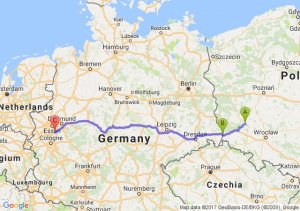 Polkowice (dolnośląskie) - Jedrzychowice - Wuppertal Niemcy