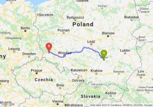 Trasa Kielce - Bolesławiec