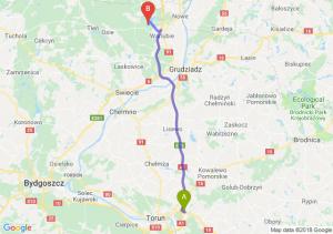 Trasa Lubicz Dolny - Warlubie