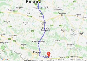 Trasa Lipno - Kraków