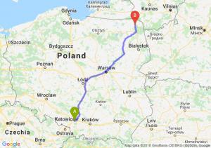 Trasa Mikołów - Suwałki