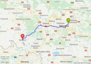 Trasa Sosnowiec - Racibórz