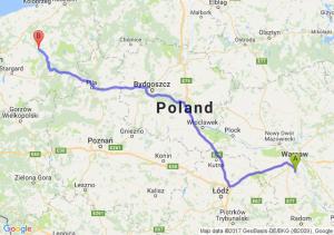 Piaseczno (mazowieckie) - Łobez (zachodniopomorskie)