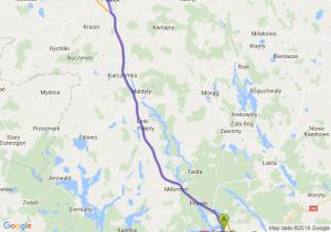 Trasa Ostróda - Pasłęk