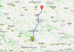 Trasa Katowice - Łowicz
