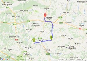Wschowa (lubuskie) - Gostyń (wielkopolskie) - Swadzim (wielkopolskie)