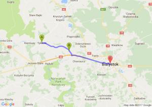 Tykocin (podlaskie) - Złotoria (podlaskie) - Białystok (podlaskie)