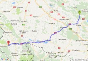 Opole (opolskie) - Polanica-zdrój (dolnośląskie)