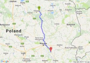 Barczewo (warmińsko-mazurskie) - Garwolin (mazowieckie)