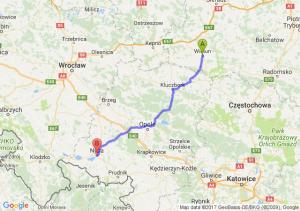 Trasa Wieluń - Nysa