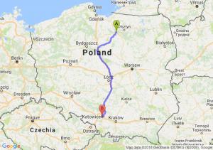 Trasa Ostróda - Katowice