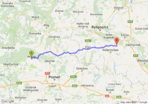 Wronki (wielkopolskie) - Gniewkowo (kujawsko-pomorskie)