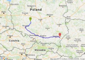 Trasa Ostrów Wielkopolski - Jarosław