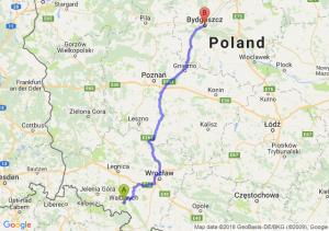 Trasa Wałbrzych - Bydgoszcz
