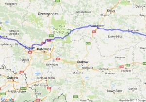 Trasa Dąbrówka Górna - Łoniów