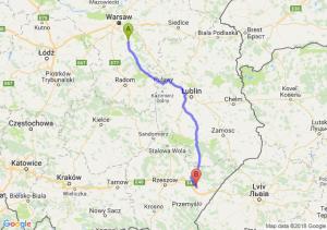 Trasa Góra Kalwaria - Jarosław