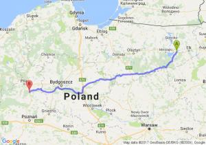 Orzysz (warmińsko-mazurskie) - Chodzież (wielkopolskie)