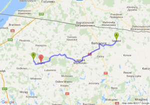 Sępopol - Bażyny (warmińsko-mazurskie) - Orneta (warmińsko-mazurskie)