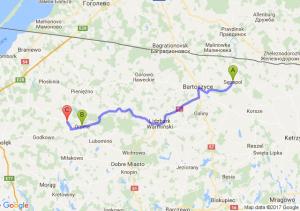 Sępopol  - Orneta (warmińsko-mazurskie) - Bażyny (warmińsko-mazurskie)