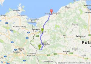 Słońsk (lubuskie) - Stragard - Ustronie Morskie (zachodniopomorskie)