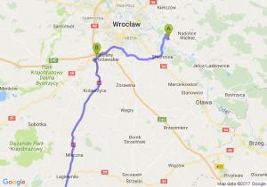 Kamieniec Wrocławski (dolnośląskie) - Bielany (dolnośląskie) - Kudowa-zdrój (dolnośląskie)