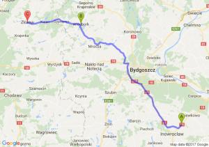 Szadłowice - Więcbork - Zakrzewo (koło Złotowa) (wielkopolskie)