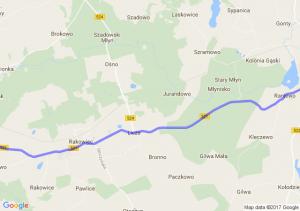 Skórcz (pomorskie) - Kolonia Ostrowicka (pomorskie) - Prabuty (pomorskie)