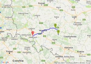 Kluczbork (opolskie) - Kępno (wielkopolskie) - Dobromierz (dolnośląskie)