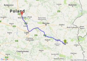 Trasa Lublin - Włocławek