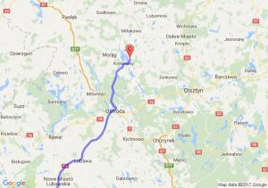 Środa Śląska - Antonin (wielkopolskie) - Kretowiny(warmińsko-mazurskie)