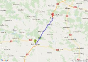 Trasa Jędrzejów - Chęciny