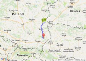 Biala Podlaska  - Miedzyrzec  - Aleksandrów (lubelskie)