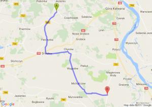 Uwieliny (mazowieckie) - Piaseczno (koło Warki) (mazowieckie)