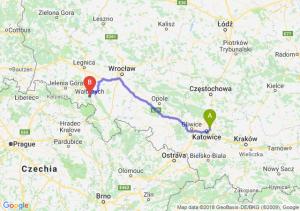 Trasa Sosnowiec - Wałbrzych