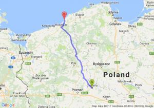 Gniezno (wielkopolskie) - Dąbki (zachodniopomorskie)