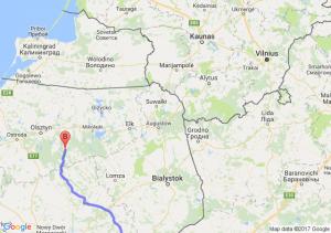 Radzyń Podlaski (lubelskie) - Szczytno (warmińsko-mazurskie)
