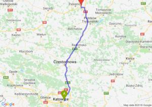 Trasa Sosnowiec - Rzgów