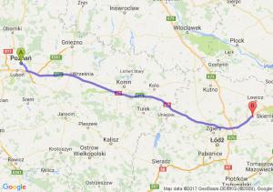 Poznań (wielkopolskie) - Łyszkowice (łódzkie)