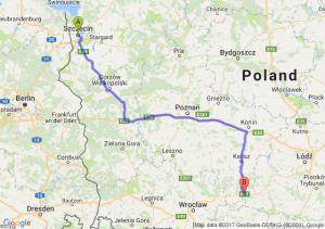 Szczecin (zachodniopomorskie) - Mirków (łódzkie)